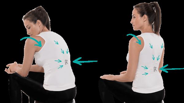 La camiseta Lyne Up busca ayudar a adoptar una postura correcta de la espalda.