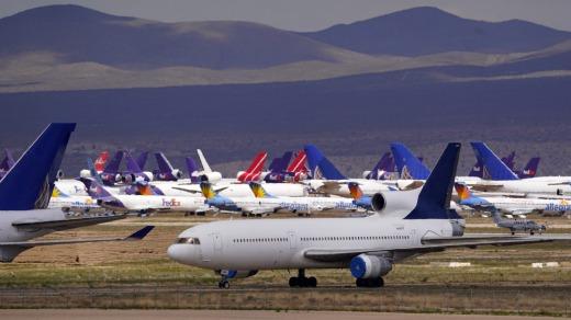 Aviones almacenados en Victorville, California.