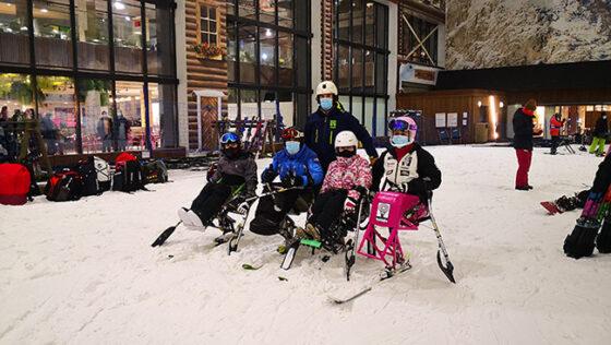 Crean una iniciativa para acercar la nieve a niños con discapacidad
