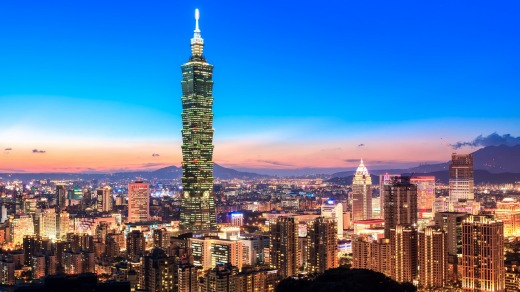 Taipei, la capital de Taiwán. El país de 24 millones ha contenido COVID-19 con éxito desde el inicio de la pandemia.